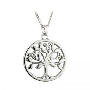 Solvar Rhodium Plated Celtic Tree Of Life Pendant S46350