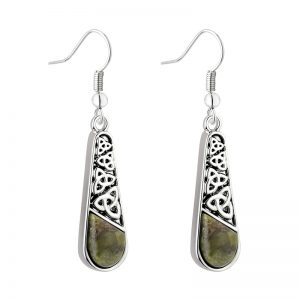 Solvar Connemara Marble Trinity Long Drop Earrings S34041