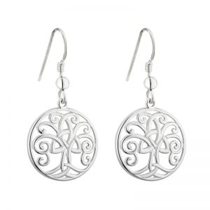 Solvar Silver Tree Of Life Earrings S33683
