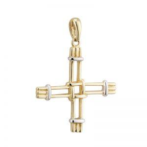 Solvar 14K St Bridgets Cross Charm S80291