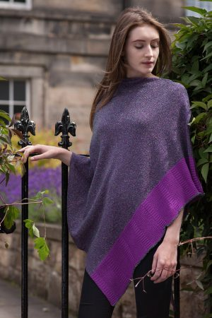 Bill Baber Heather Cashmere & Silk Cape