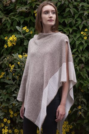 Bill Baber Oatmeal Cashmere Silk Cape