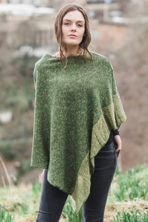 Bill Baber Donegal Wool Clover Moss Cape