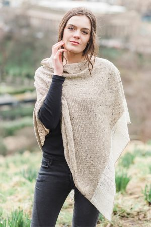 Bill Baber Donegal Wool Oatmeal Cape