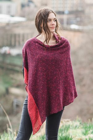 Bill Baber Donegal Wool Raspberry Cape