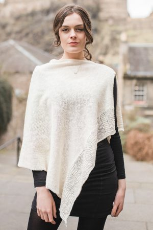 Bill Baber Ecru Linen Cape