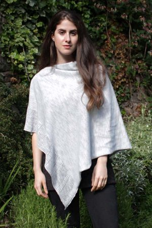 Bill Baber Mayo Grey Linen Cape
