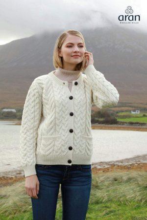 Aran Woollen Mills Super Soft Merino Cardigan B685 367