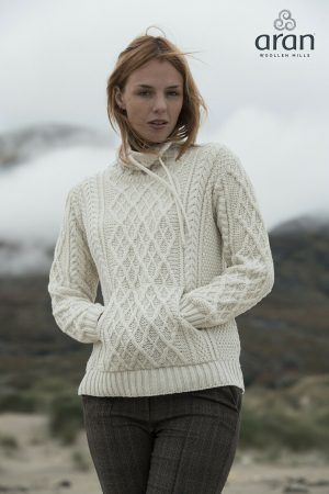 Aran Woollen Mills Supersoft Collared Sweater