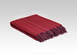 Mcnutt Bright Red Heritage Tweed Blanket