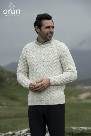 Aran Woollen Mills Super Soft Fisherman Sweater