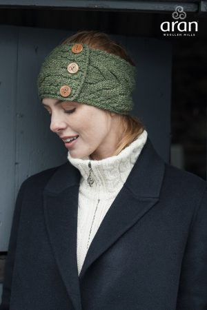 Aran Green Head Band