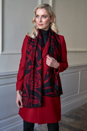 Patrick Francis Celtic Reversible Red Scarf