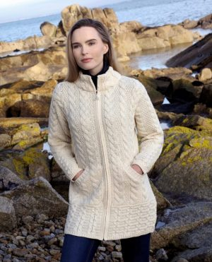 Cork Long Zip Natural Coat
