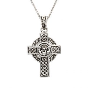 Shanore Sterling Silver Unisex Claddagh Celtic Cross sp2262