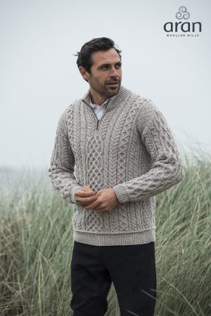 Aran Woollen Mills 1/2 Zip Sweater
