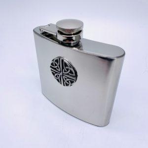 Mullingar Pewter Trinity Whiskey Flask