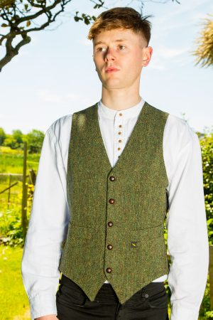 Donegal Tweed Green Vest
