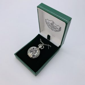 Mullingar Pewter Pendant Watch Shamrock