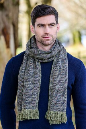 Mucros Donegal Wool Green Scarf