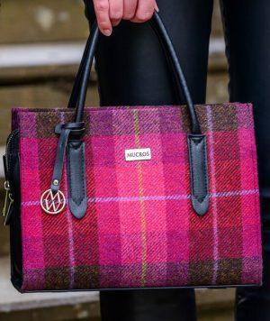 Mucros Pink Check Aoife Bag