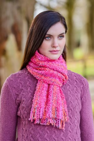 Mucros Mohair Pink Scarf