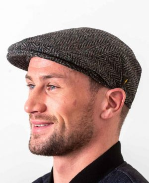 Donegal Tweed Flat Cap Charcoal