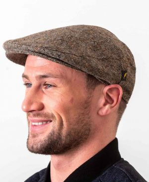 Donegal Tweed Cap Brown