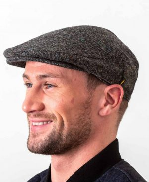 Donegal Tweed Flat Cap Charcoal Salt & Pepper