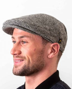 Donegal Tweed Flat Cap Silver