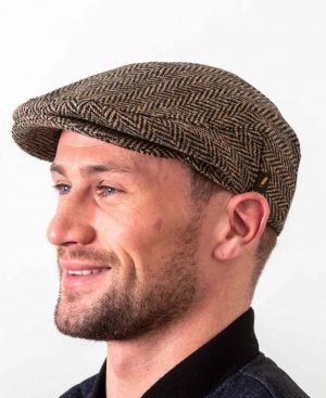 Donegal Tweed Flat Cap Beige