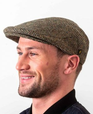 Donegal Tweed Herringbone Flat Cap