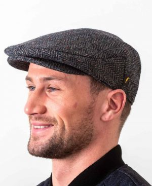 Donegal Tweed Blue Speckle Flat Cap