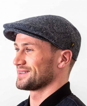 Donegal Tweed Blue Flat Cap