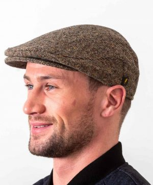Donegal Tweed Brown Irish Cap