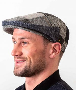 Donegal Tweed Gray Patch Cap