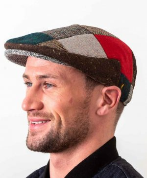 Donegal Tweed Red Patch Cap