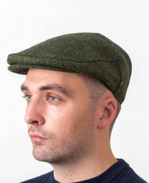Irish Wool Green Flat Cap