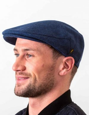 Irish Wool Blue Flat Cap