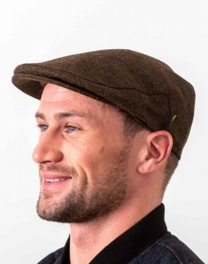 Irish Wool Foliage Flat Cap