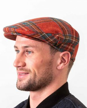 Antique Royal Stewart Flat Cap