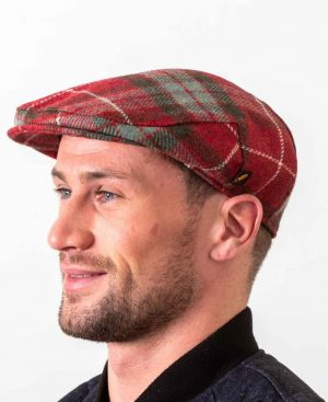 Red Frazer Flat Cap