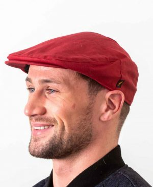 Wax Red Flat Cap