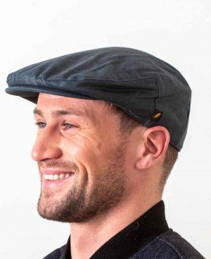 Wax Navy Flat Cap