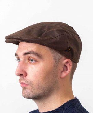 Wax Brown Flat Cap