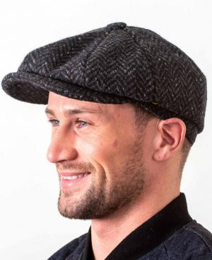 Newsboy 8 Piece Charcoal Cap