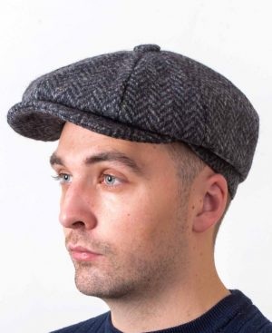 Newsboy 8 Piece Gray Cap