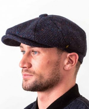 Newsboy 8 Piece Navy Cap
