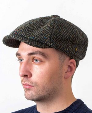 Newsboy 8 Piece Green Cap