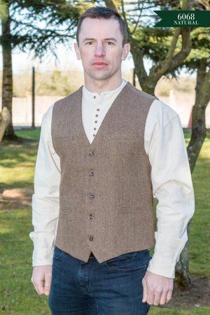 Irish Brown Tweed Vest
